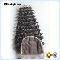 Where to buy Thanksgiving Day gifts top quality products wholesaler deep wave closure virgin brazilian hair