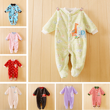 90e6b2481d35 Newborn Baby clothes baby boy girls footed romper Spring autumn baby ...