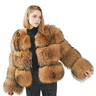Mao Mao Fur Custom Logo Winter Coat Hot Selling Lady Raccoon Fur Woman Jacket Classic Real Natural Raccoon Fur Coat