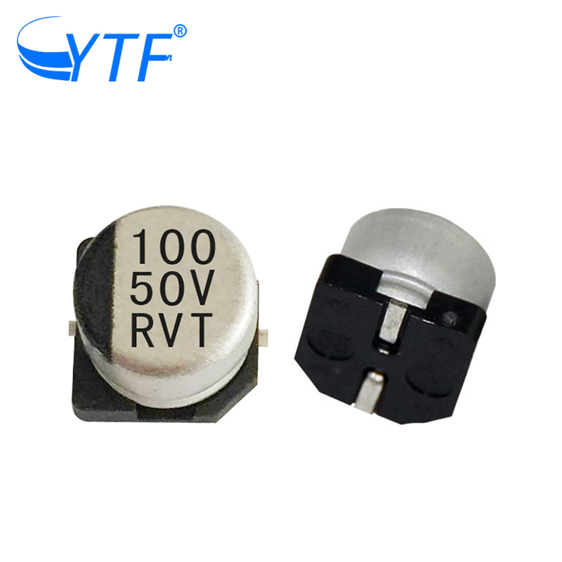 high quality 8*10.2mm v-chip film capacitors 50V 100UF in automotive lighting and medical industry