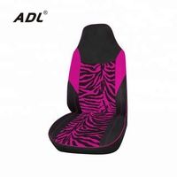 Fashion Design with Velvet Fabric Pink Zebra disposable car seat cover