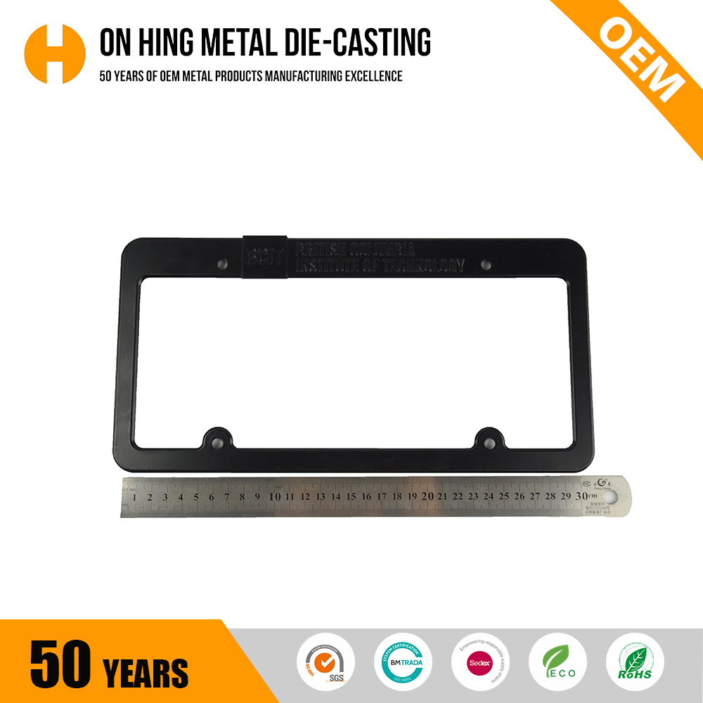 Custom EU Universal Black Car ABS License Number Plate Holder Frame From China