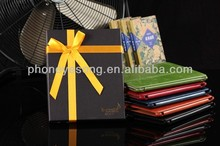 luxury gift box package leather case for ipad 2/3/4