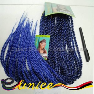 Synthetic Soft Dread Braid Hair Long Curly Crochet Senegalese Twist Hair Box Braids 24 inches hair