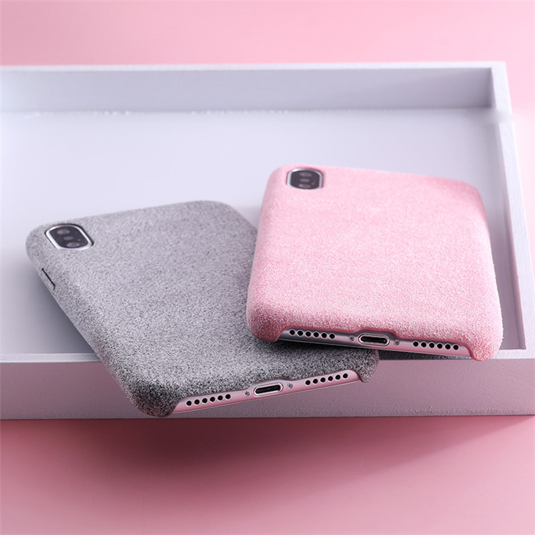 Simple Soft TPU Phone Case for iphone X Case 5.8 inch Silicone Fabric Canvas Plush Back Cover