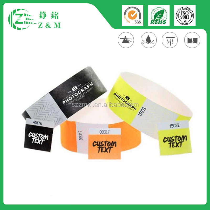 Hot And Cheap Multifunction Event Security Printed Wristband Tyvek
