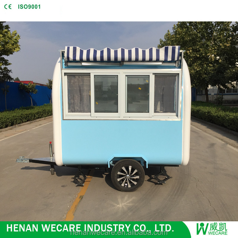 2018 China extensively used hot-selling food truck street snack van cooking cart 220cm