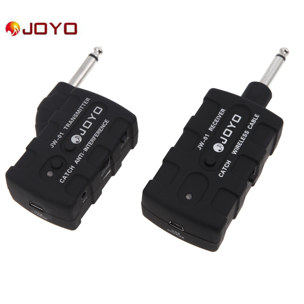 joyo jw 01 wireless digital bass guitar transmitter receiver rechargeable 2 4g audio stage. Black Bedroom Furniture Sets. Home Design Ideas