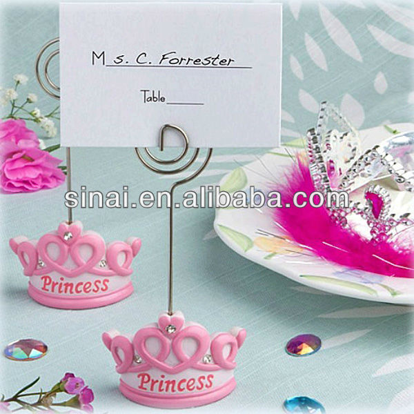 Beautiful Baby Shower Favors Pink Crown Princess Keychain