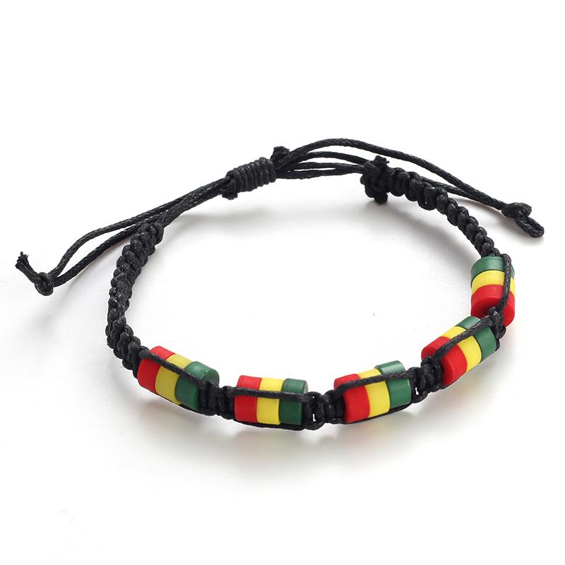 Flag Jamaican Rasta Reggae Bracelet For Women Men, As show