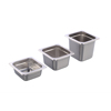 OWNFIT 1/6 Anti Jamming Food Pan America Style Stainless Steel Food Pan Chafing Dish Food Pan