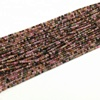 Fine Quality Natural Multi Tourmaline 3 mm Roundel Faceted Loose Gemstone Beads