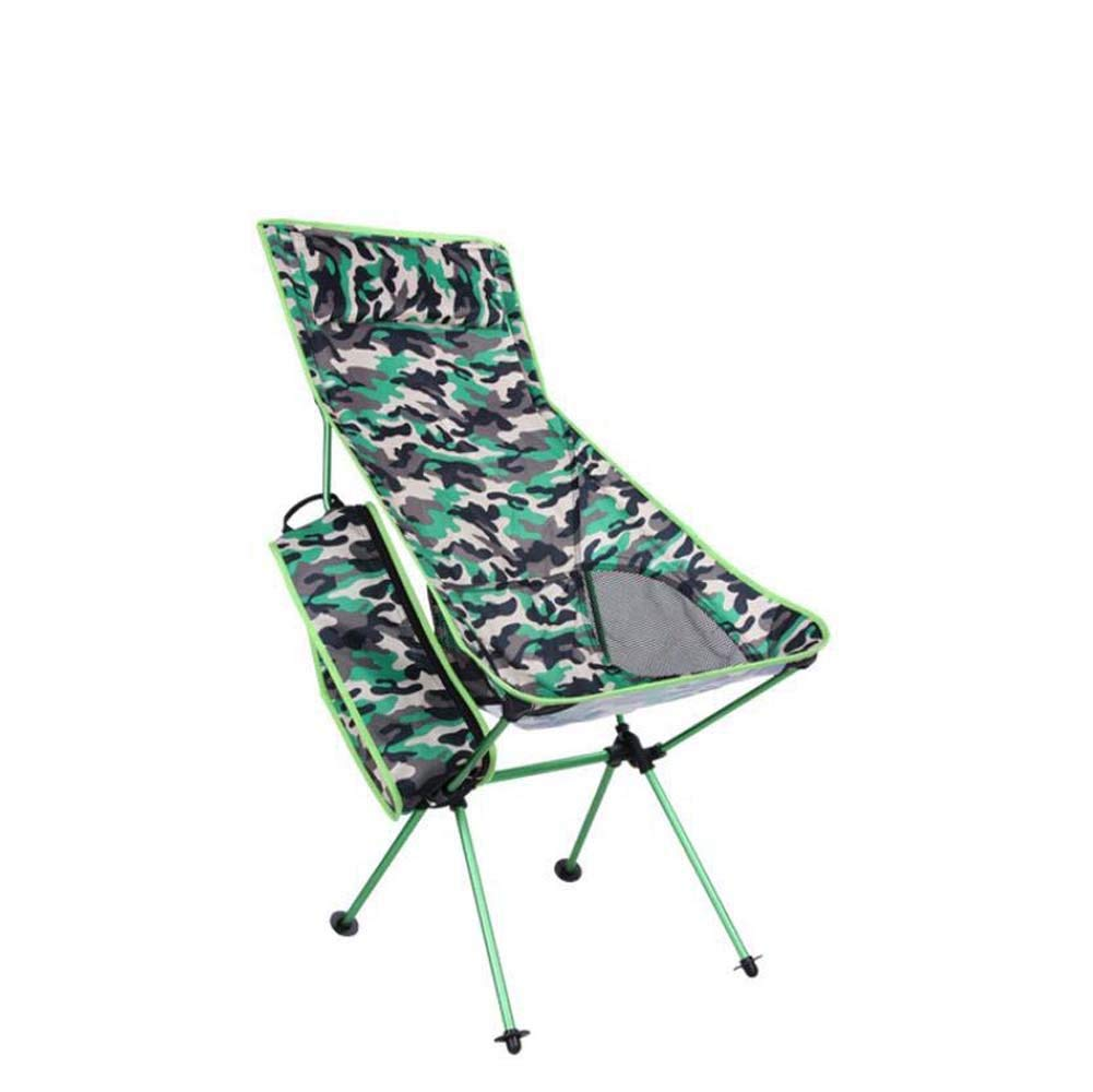 Onfly Outdoor Folding Beach Chair,Multifunctional Mountain Camping Leisure Chair,portable Aluminum Alloy Pillow Backrest Chair With Carry Bag,Camouflage Series Sun Loungers