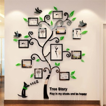Acrylic Photo Frames Wall Family Tree Stickers 3d Three Dimensional Wall  Sticker Home Dercor Living Part 75