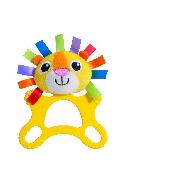1PC Hot Large Teether Baby Toys Rattle Two style Lion Deer Appease Doll Boys Girls Developmental