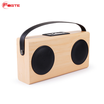 Wood Grain Wireless Bluetooth Home Bookshelf Speakers And 4000mAh External Battery To Charge Phone