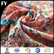 cool color floral digital printed 100 percent polyester fabric
