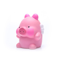 Custom design china big pink flying pig pu squishy toys