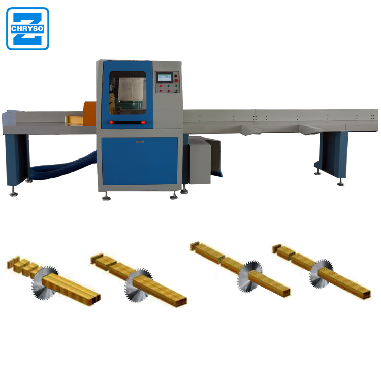High precision wood log optimizer cross cutting off saw machine with factory price