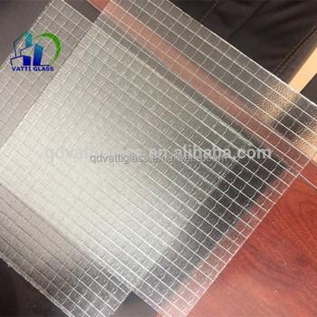 6mm Sicherheit Mesh Verdrahtet Klaren Glas,Drahtglas Muster Glas ...