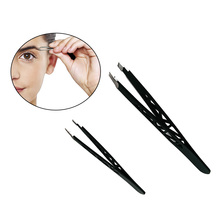 A10106 Wholesale Stainless Steel Eyebrow Hair Removal Slant Eyelash Tweezers