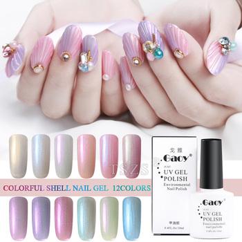 Nieuwe Mode Gel Nail Art Kleurrijke 10 Ml Shimmer Shell Led Uv Gel