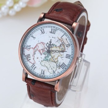 Latest design vintage earth world map watch alloy women men quartz latest design vintage earth world map watch alloy women men quartz wrist watches gumiabroncs Images