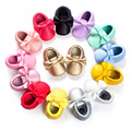 New Fashion 30 Color Tassel Leather Baby Shoes Bowknot Moccasins Baby Toddler Shoes Unisex Newborn Baby