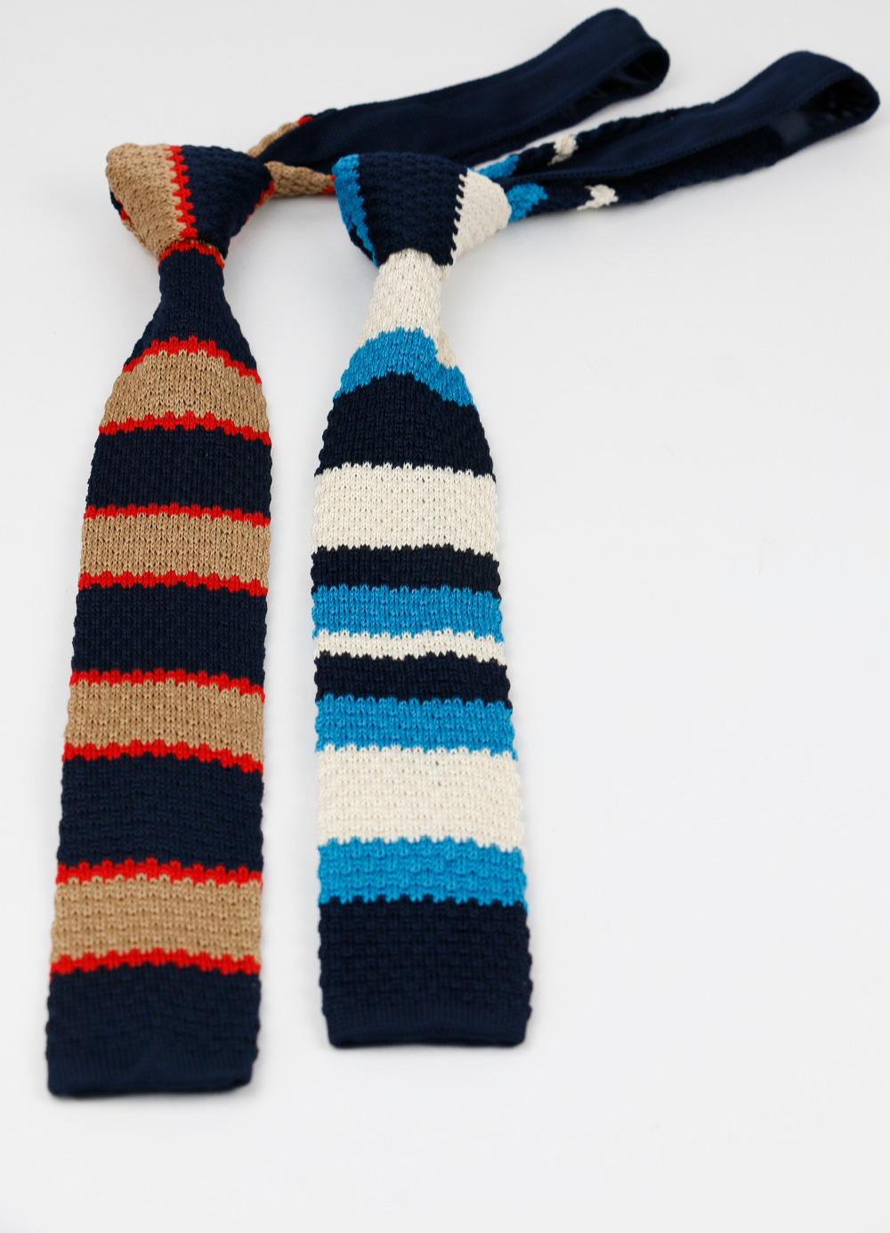 Мужской вязаный вязать отдых полосатые галстуки мода тощий узкие тонкий галстуков для мужчин тощий дизайнер галстук