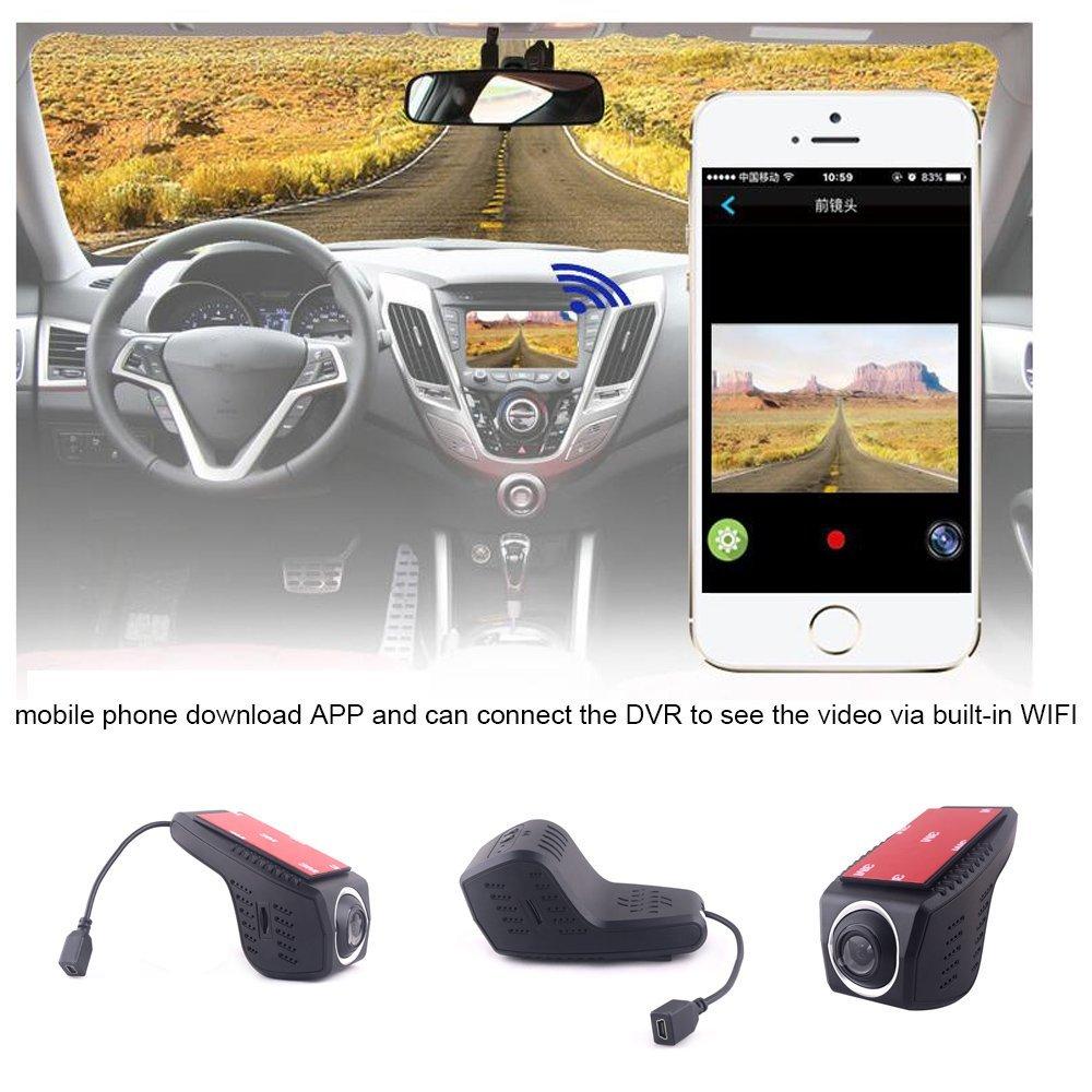 Universal Car hidden DVR DVRs Dash Camera Cam Digital Video Recorder Camcorder 1080P Night Version Novatek 96655 car driving recorder camera front and back car cameras A4D (Single camera(front))