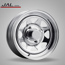 Chrome Steel Wheels 4x114.3 Car Tires and Rim for 4x4 Offroad