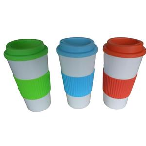 Single Wall Lid Mugs Coffee Silicone With Cups Plastic 16oz Travel L3j5A4R
