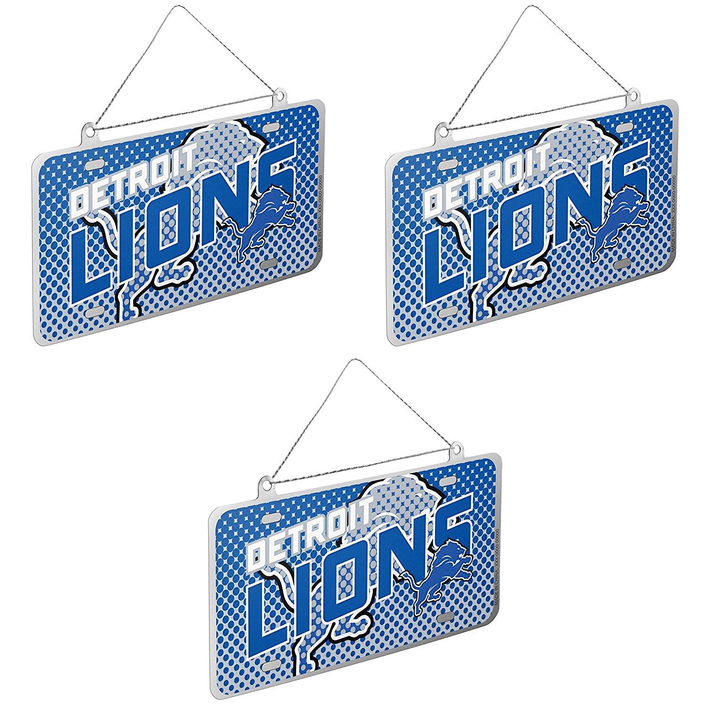 NFL Detroit Lions Laser Cut Inlaid Standard Chrome License Plate Frame