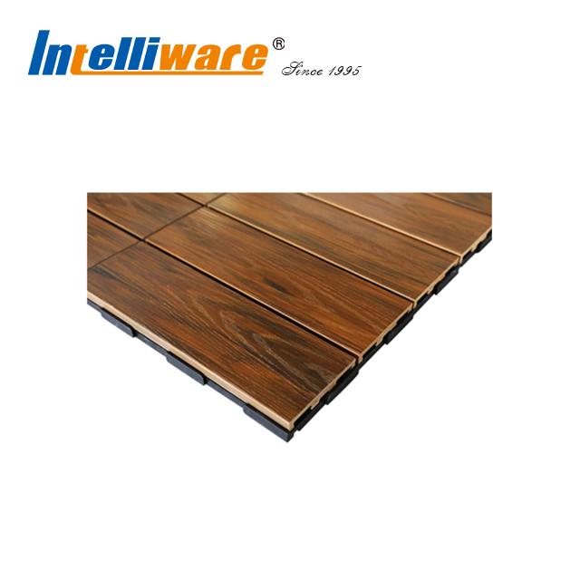 12 X Wpc Garden And Patio Flooring Interlocking Tiles