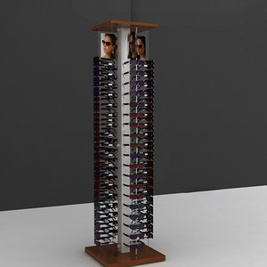 floor standing wooden sunglasses display rack stand,eyeglasses display shelf
