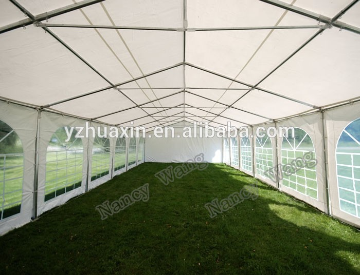 Hot sale 6m x 12m steel frame white marquee tent gazebo for Steel frame tents
