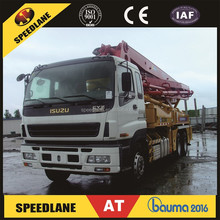 Hot Sale 37m used concrete pump trucks with ISUZU Chassis for sale