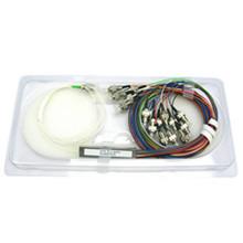PLC Splitter Fiber Optical 1*8 1*16 PLC Splitter , mini tube cassette package plc splitter