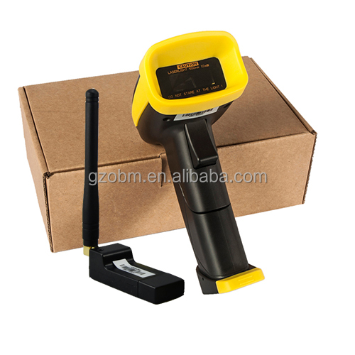 OBM-380 1D Wireless long range Barcode Scanner with memory