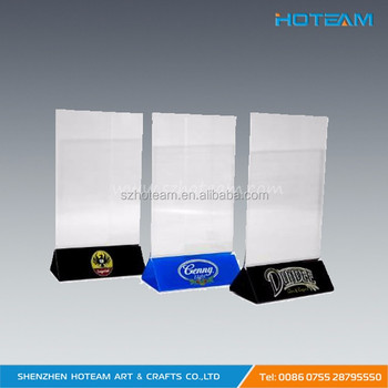 Marketing Holders Acrylic Sign Holder Crystal Clear Display Table - Plastic table tent holders