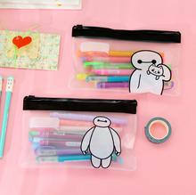 Cute The Big Hero 6 The Baymax Pen Bag Storage Organizer Bag Stationery Bag K6860