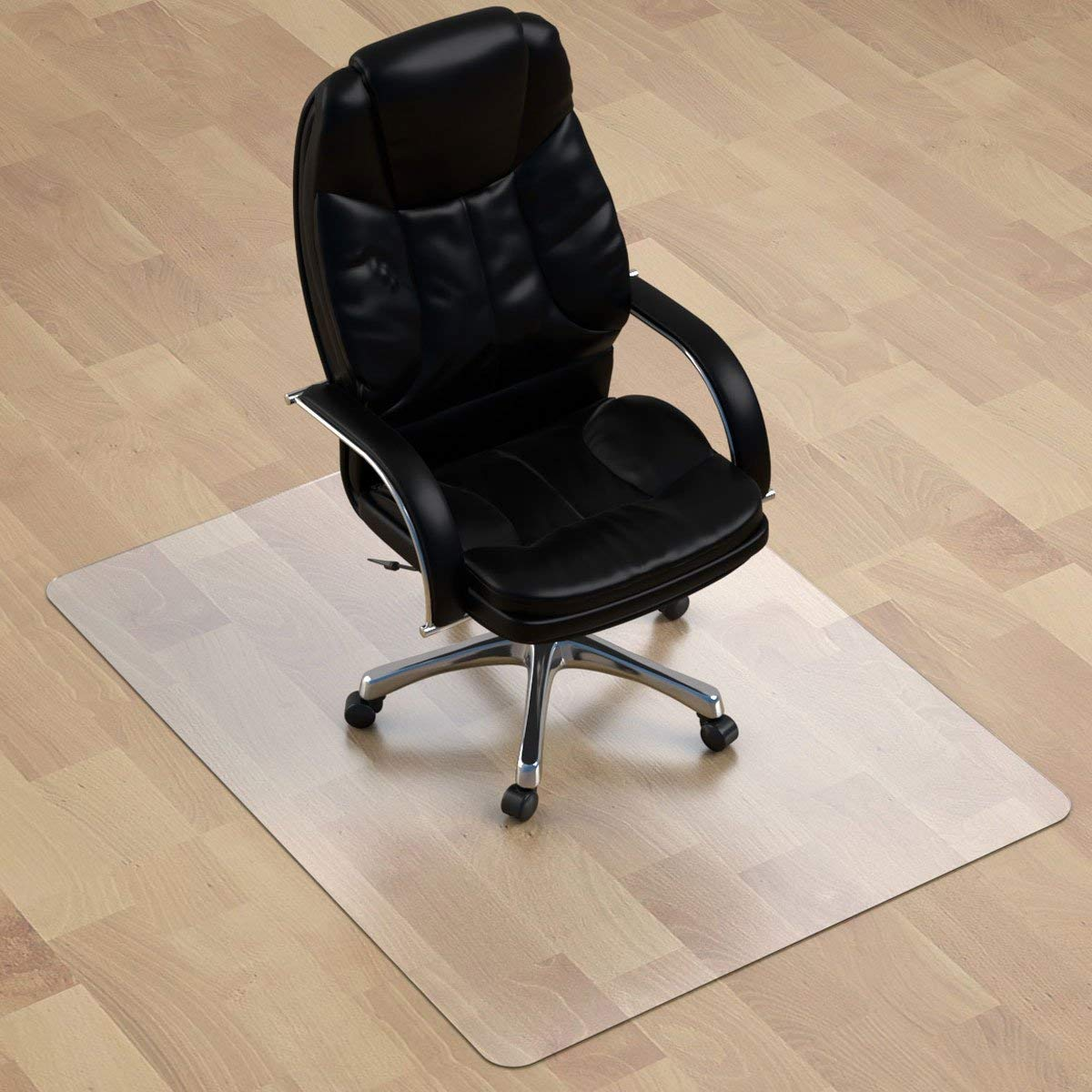 Polycarbonate Office Chair Mat For Hardwood Floor, Floor Mat For Office  Chair(rolling Chairs) Desk ...