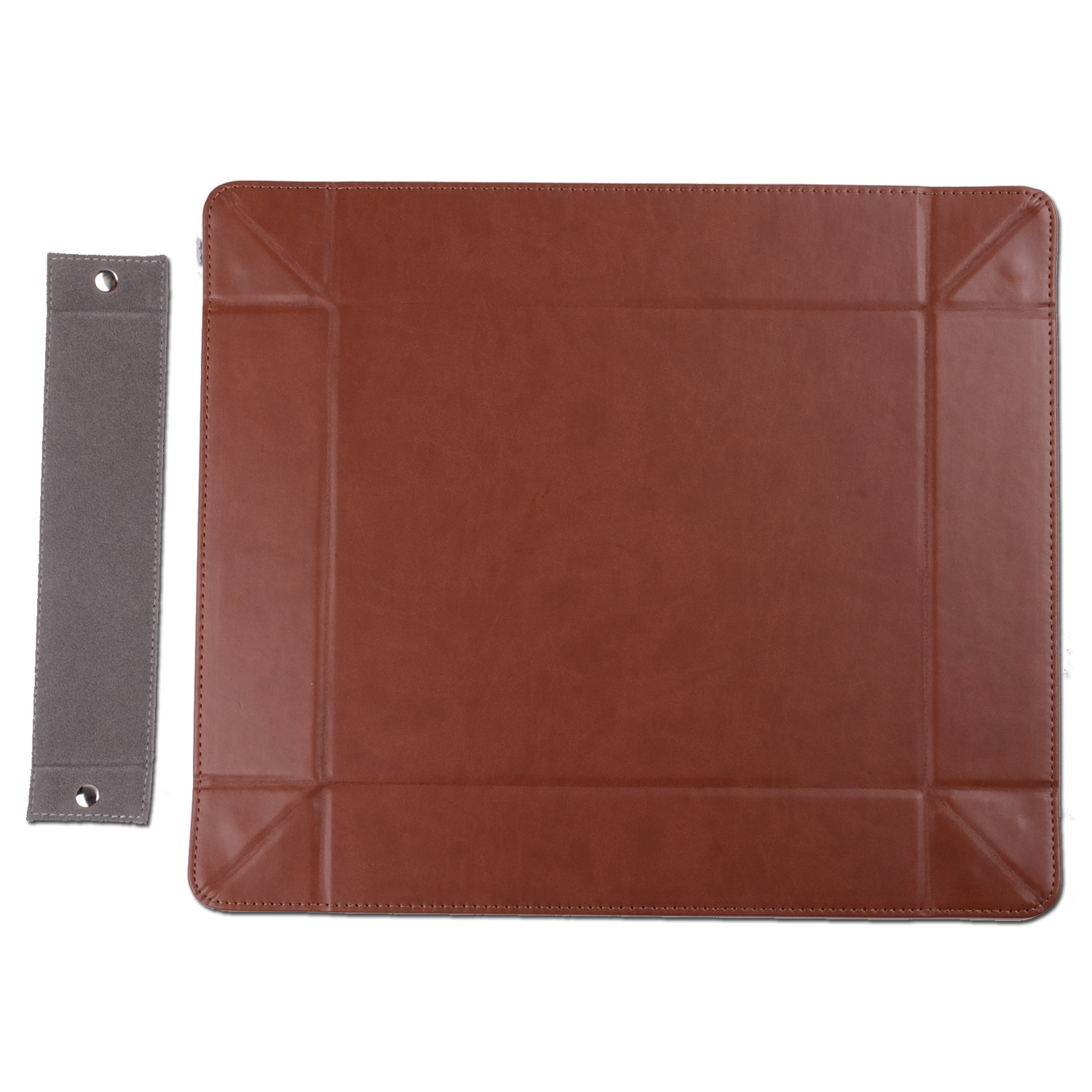 faux leather home table velvet tray money coin folding tray