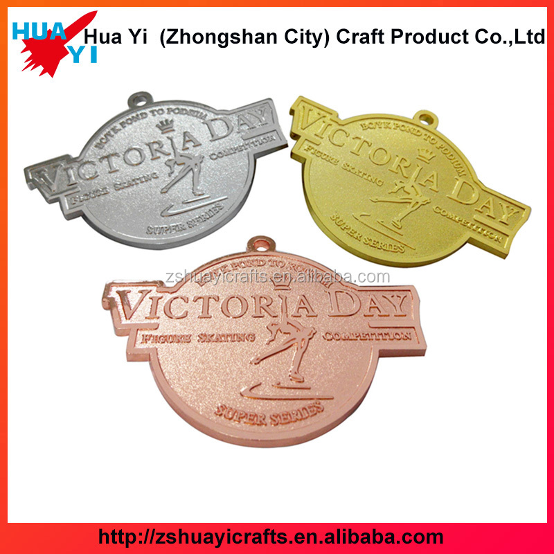 Custom gold silver brass medals for a souvenir cheap sports medal with your own design