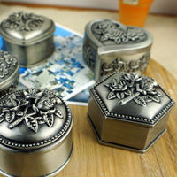 A298P Engraved Flower Silver European Wholesale Box for Jewelry