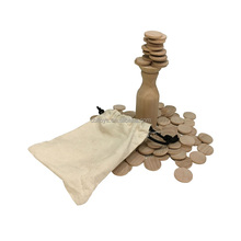 2018 Promotion Wooden bottle Balance stacking brain game with cotton bag educational toys