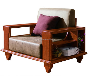 Wood Sofa Set, Simple Wooden Sofa Set Design, Solid Wood Sofa (C025