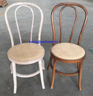 bentwood limewash thonet dining chair with rattan seat