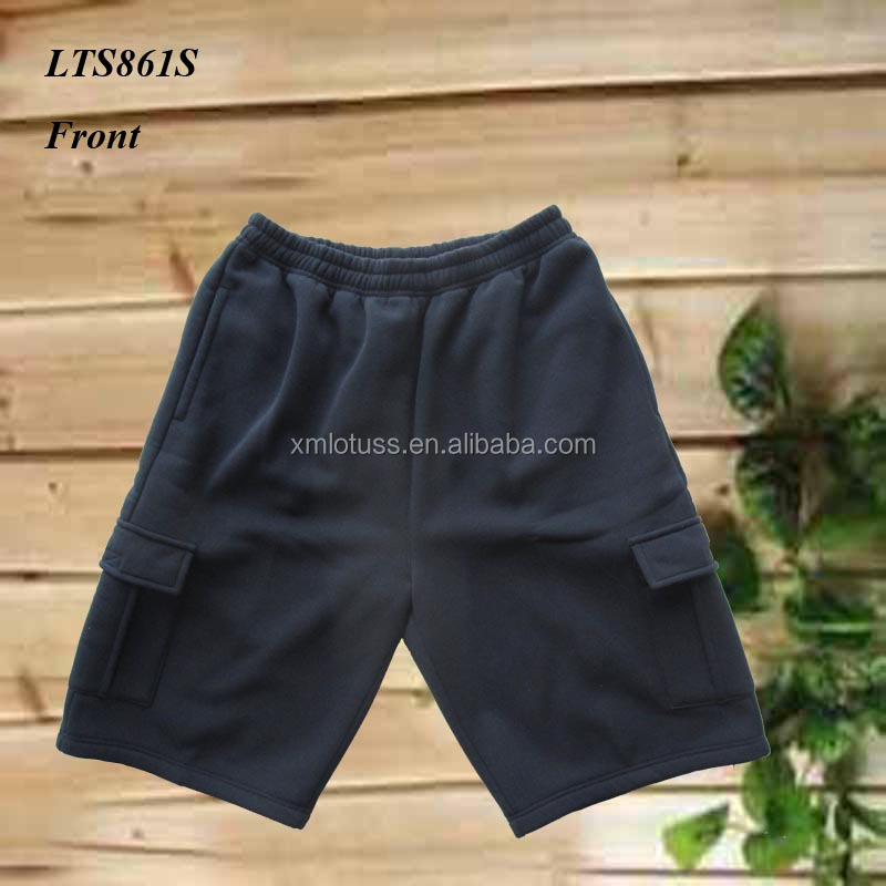 LTS861S 2017 HOT SELLING 280G FLEECE 2 CARGO POCKETS SHORTS FOR MAN