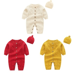 Winter Long Sleeve Baby Clothes Baby Sweater Baby Girl Romper set Baby Boy Jumpsuit Wholesale Woolen Fabric
